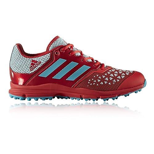 best cheap a72c4 728cf adidas Zone DOX Scarlet Aqua Hockey Shoes - SS18-10