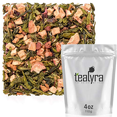 Tealyra - Strawberry Kiss - Fruity Oolong Loose Leaf Tea - Great Blend of Taiwanese Oolong, Strawberry, Hibiscus and Fruits - Hot or Iced Tea - All Natural Ingredients - 110g (4-ounce)