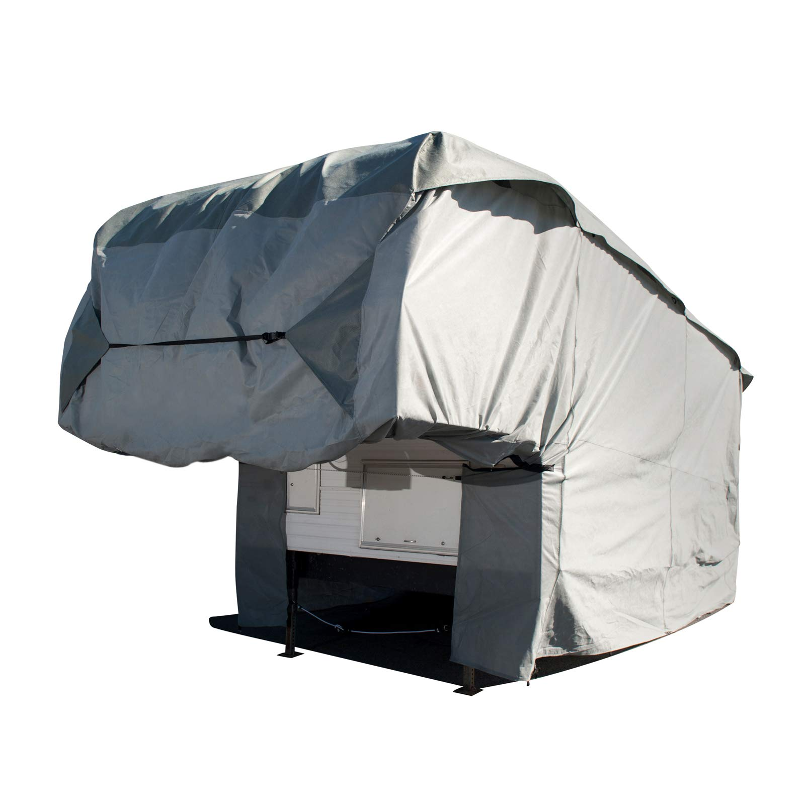 Budge Truck Camper Covers Fits Truck Camper RVs 8' to 9' Long (Gray, Polyproplyene) by Budge