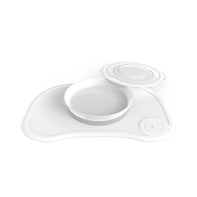 White Plate 6+m Twistshake Click Mat