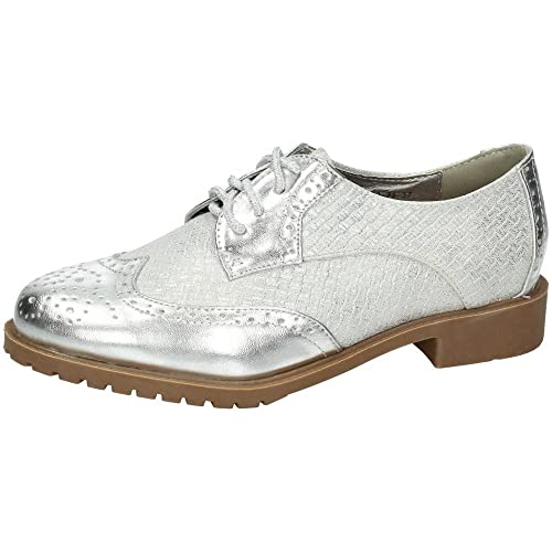 Mujer Plata Tipo 41 Zapato Blucher 74 Cordón Zapatop Chc88 Zapatos FJcl1T3uK