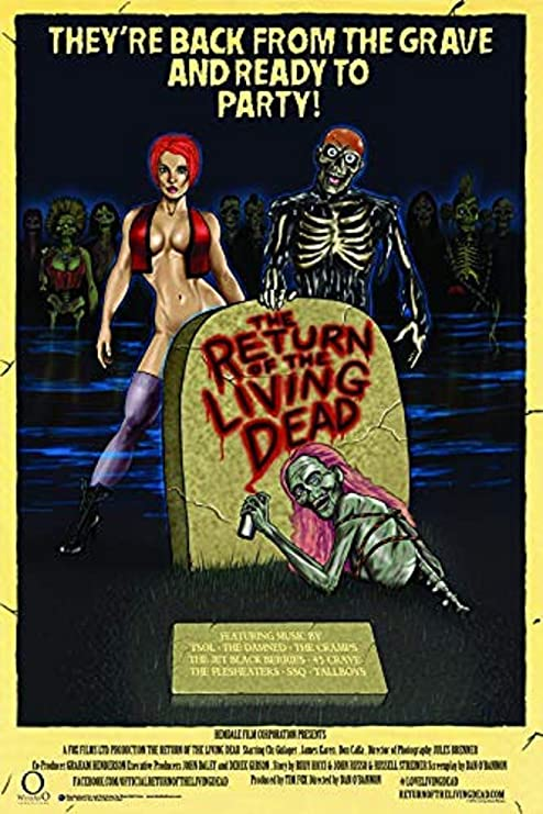 Amazon.com: Return of The Living Dead Movie Poster 24x36 inches: Posters &  Prints