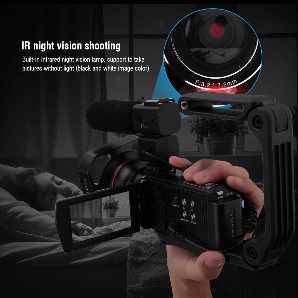 Cam/éra Vid/éo Appareil Photo Num/érique Ecran Tactile3.0 Pouces Photographie Zoom 16X Rotation /à 270 degr/és VBESTLIFE Cam/éscope HDR-AE8 4K HD Wif avec Batterie