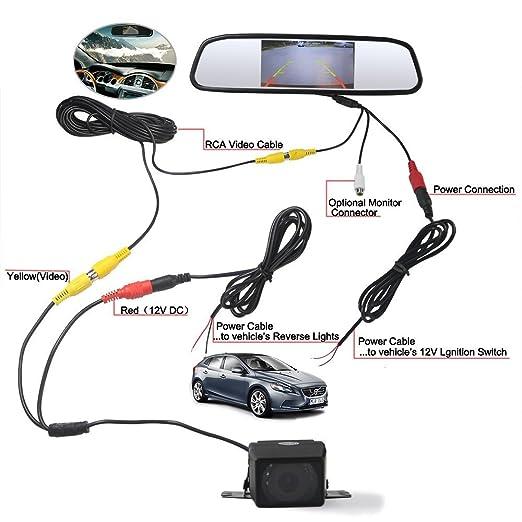 59 opinioni per Dax TFT LCD ad alta risoluzione Video sensore di parcheggio di retrovisione Car