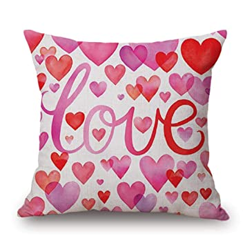 Fundas de Cojines,SHOBDW Regalo de San Valentin Throw Pillowcase Protector Sweet Love Square Romántico