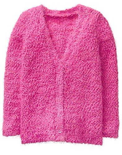 Gymboree Girls' Little Boyfriend Sweater, Fuchsia, S -