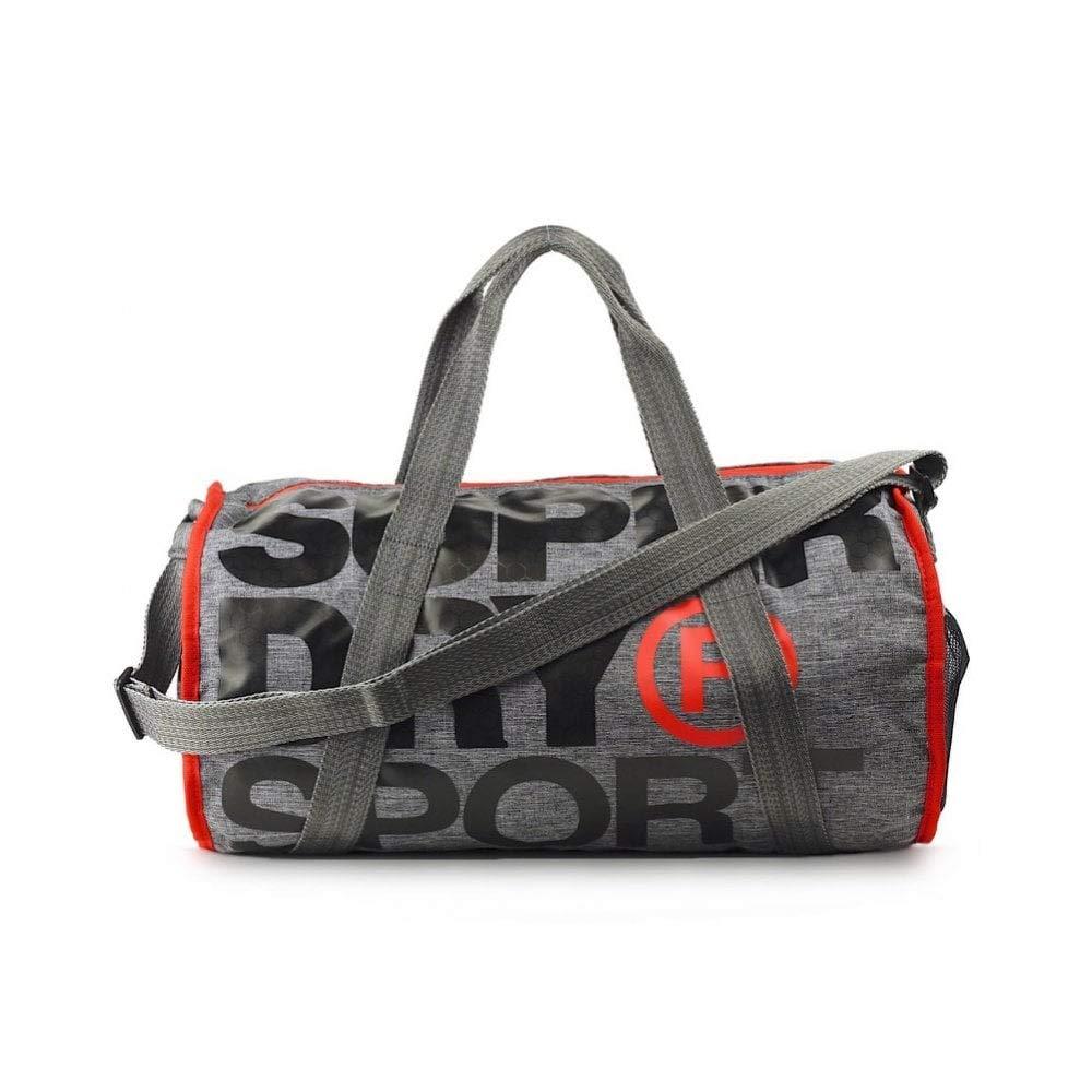 SUPERDRY XL Sports Barrel Bag Grey Marl Duffel bag, Gym bag, Travel bag, MS4001MR-07Q by Superdry (Image #2)
