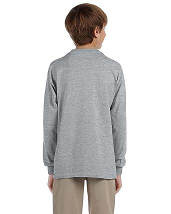 efb8131325 Jerzees Big Boys Tear Away Label 1X1 Rib Cuffs T-Shirt  Amazon.co.uk   Clothing