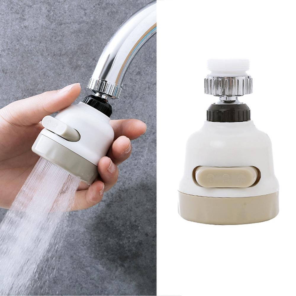 Faucet Sprayer Three Gear Adjustable, Water Saving Tap Anti Splash Tap Faucet Nozzle Filter Aerator Diffuser for Kitchen Bathroom Leegoal