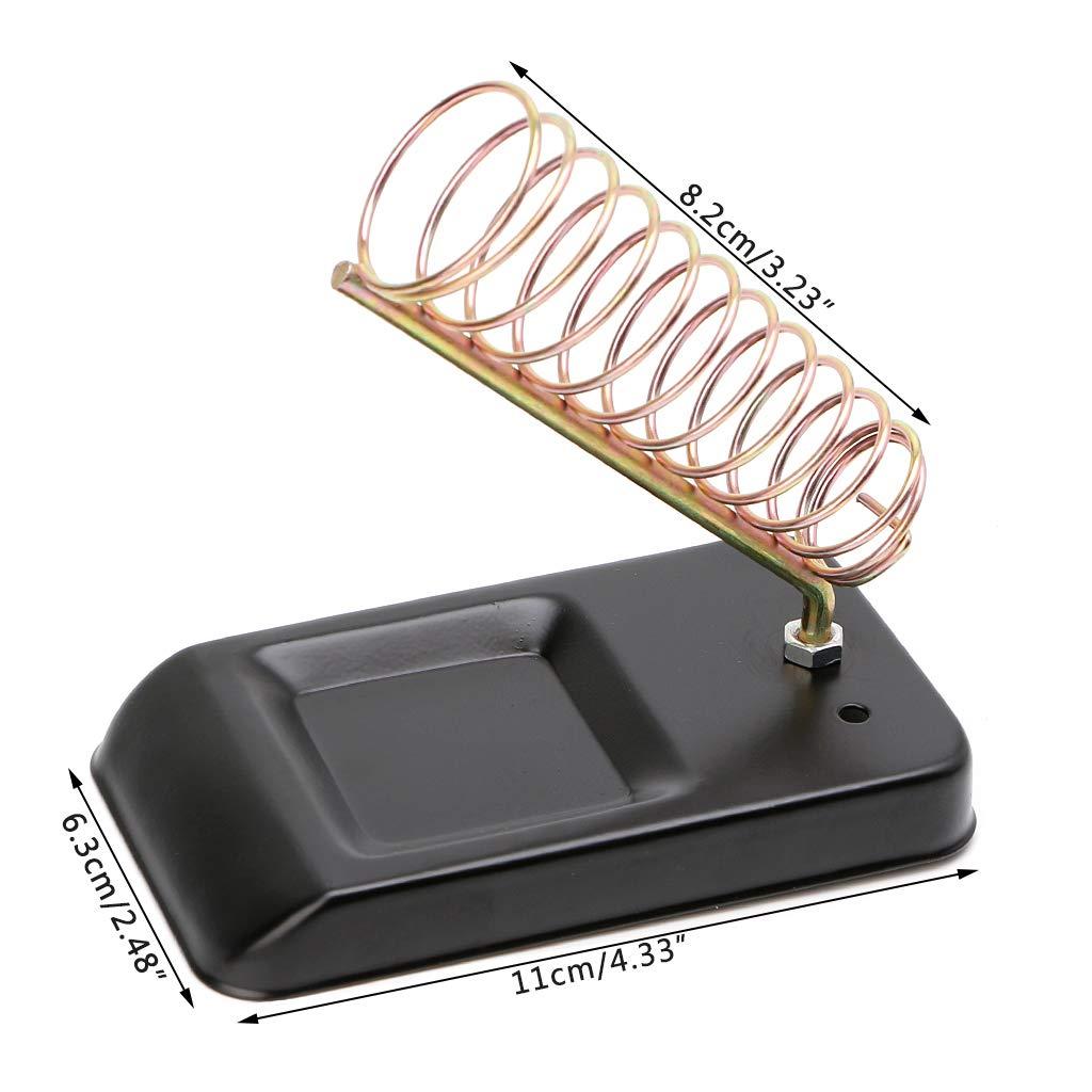 JENOR Portable Detachable Multifunction Metal Base Soldering Iron Holder Sponge Seat