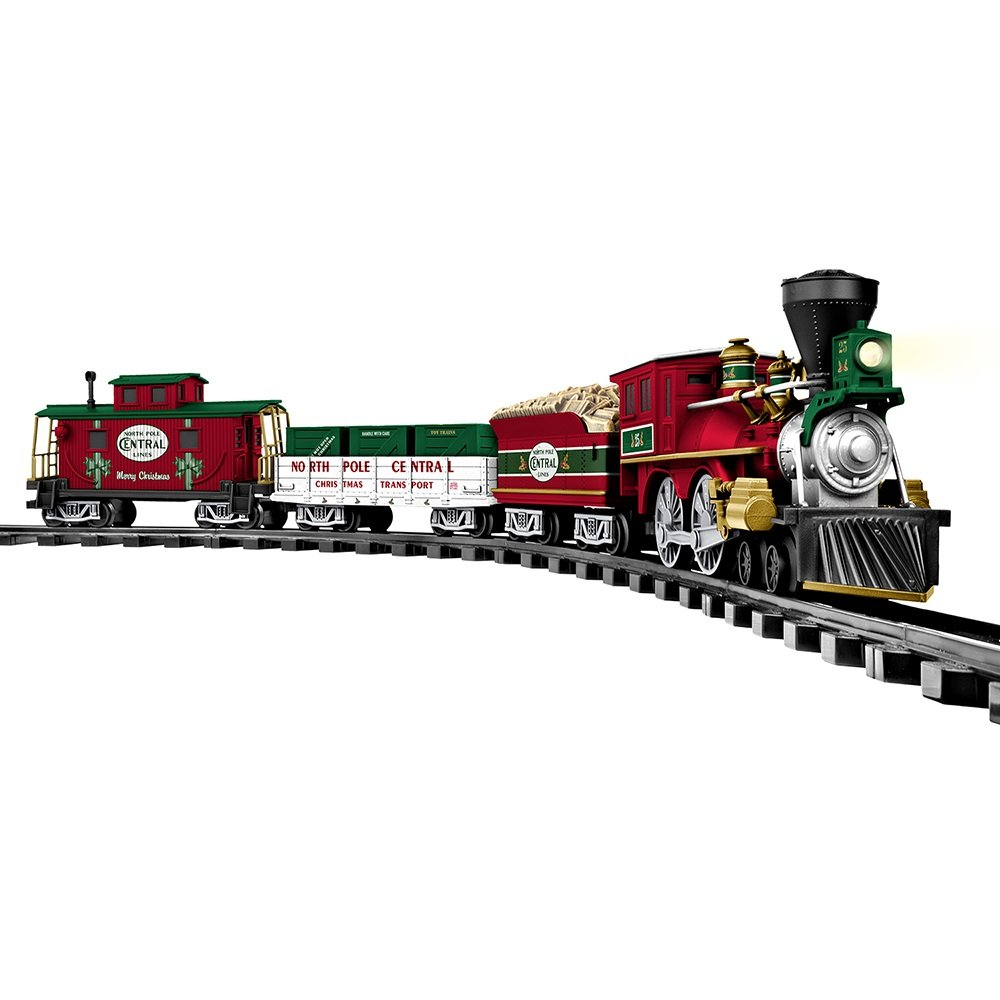 amazoncom lionel north pole central ready to play train set toys games