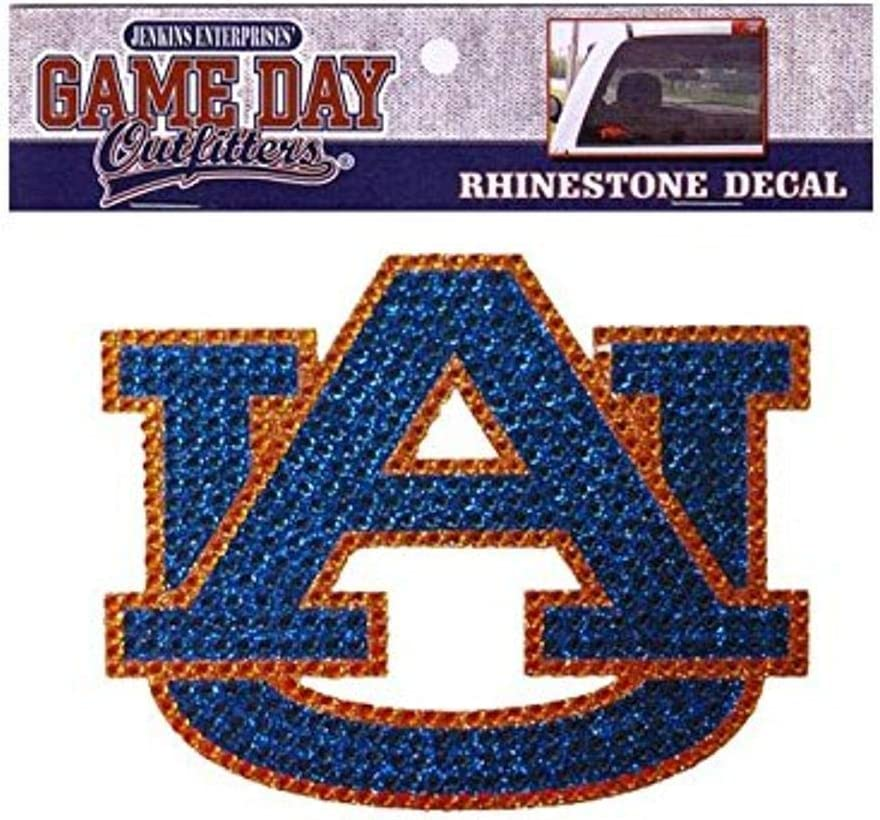 One Size Multicolor Game Day Outfitters NCAA Auburn Tigers Rhinestone Window Decal Sticker