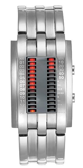 Storm London Hombre MK 2 Circuito espejo 4575/MR - rectangular pantalla Digital LED movimiento - Hebilla - acero inoxidable - Dial de plata reloj: ...
