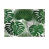 NYMB KOTOM Green Tropical Plants Decor, Abstract Exotic Palm with Monstera Leaves Bath Rugs, Non-Slip Doormat Floor Entryways Indoor Front Door Mat, Kids Bath Mat, 15.7x23.6in, Bathroom Accessories