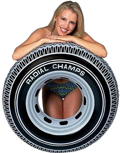 Intex Piscina Flotador inflable Radial diseño neumático tubo 91 cm de diámetro