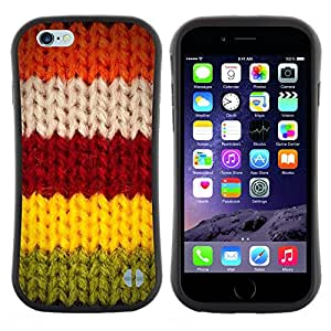 """Pulsar iFace Series Tpu silicona Carcasa Funda Case para Apple (4.7 inches!!!) iPhone 6 Plus / 6S Plus ( 5.5 ) , Red Greeen Invierno Suéter Caliente"""""""