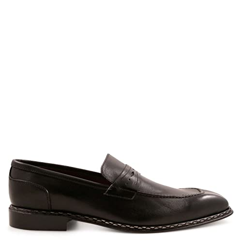 Men's 504ANACONDANERO Black Leather Loafers