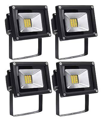 Ip65 Blanche Floodlight Blanc Lampe 4x Projecteur 3200k Lumière Exterieur Leetop Led 20w Chaud Imperméable eWH9ED2IY