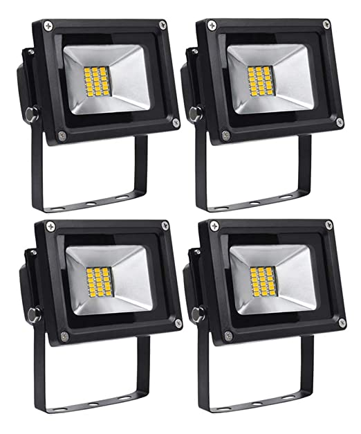 Leetop 4X 20W Blanco Cálido Luz Proyector LED Foco Proyector, IP65 Impermeable Resistencia