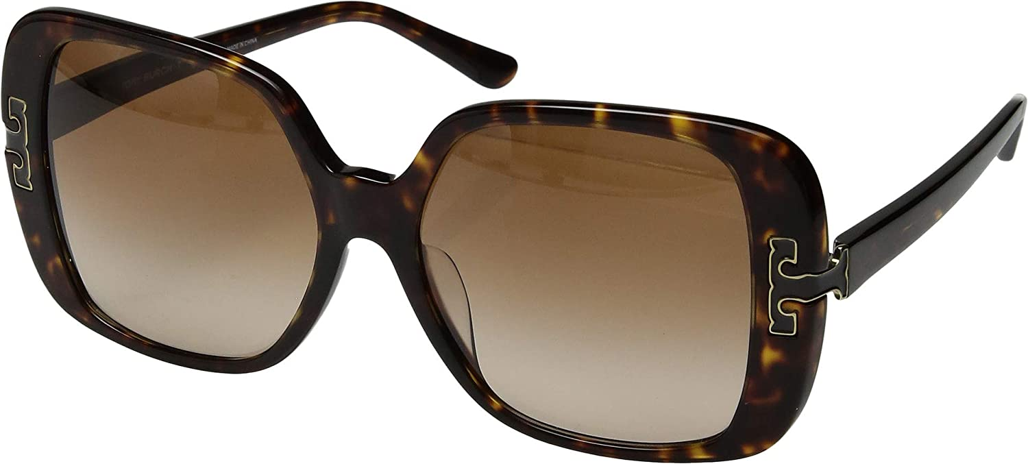 Dark Havana Dark Brown Gradient Tory Burch Unisex 57mm 0TY7132U