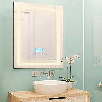 Flyelf 600x800mm Badezimmer Wandspiegel, mit Zwei Bluetooth ...