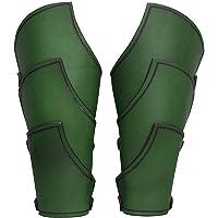Andracor - Geschuppte Armschienen - Robuste Leder Rüstung für die Unterarme mit verstellbaren Schnallen - LARP Mittelalter Wikinger & Cosplay - braun
