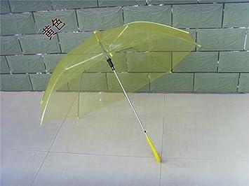Paraguas Los Colores del Caramelo Precioso Mango Largo Paraguas automático Niño Transparente Paraguas del niño Paraguas