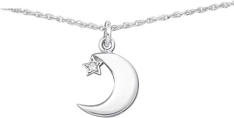 collier ras de cou etoile lune