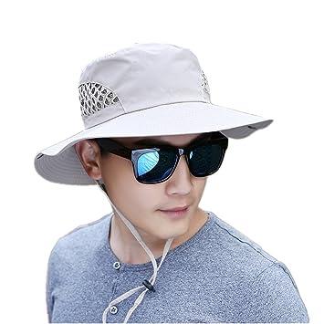 e161b746601 Boonie Bucket Men Wide Brim Fisherman Jungle Hats Quick Drying Sun Cap UV  Protection UPF 50