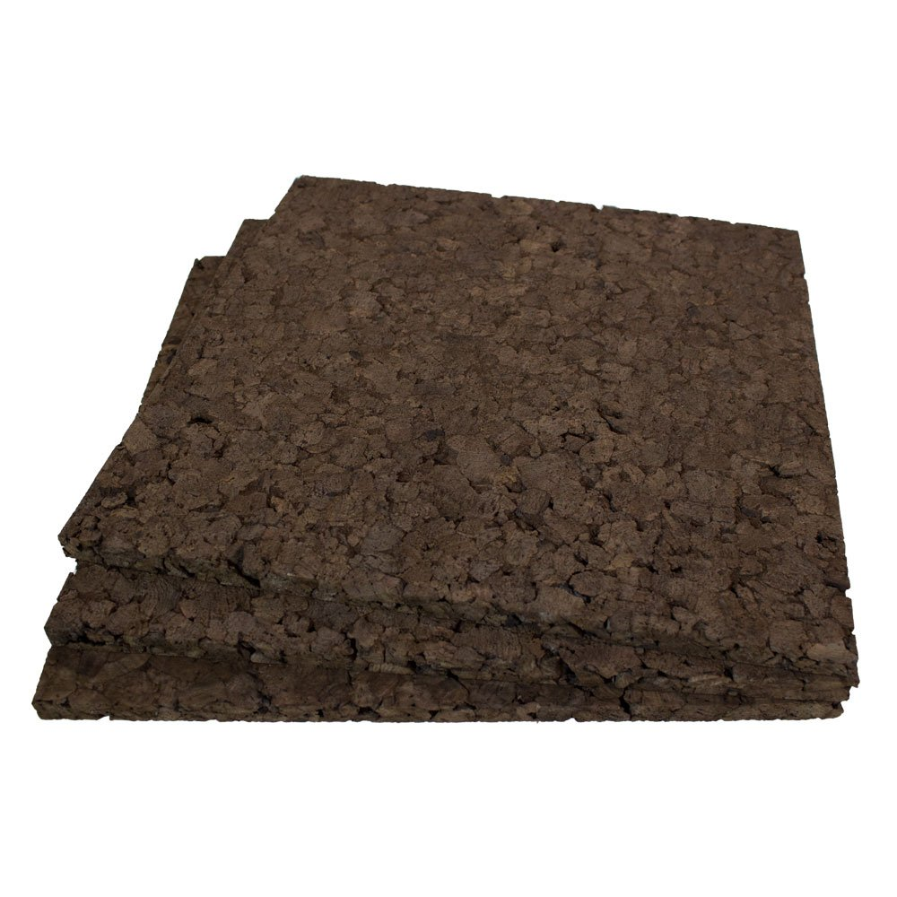 Cleverbrand Brown Cork Squares: 12' Wide X 12' Long X 1' Thick, 9 Pack Cleverbrand Inc.