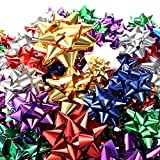 Tatuo 130 Pieces Gift Wrap Bows Christmas Metallic Bows Self Adhesive Gift Bows for Decorating Presents (Multi Color): more info