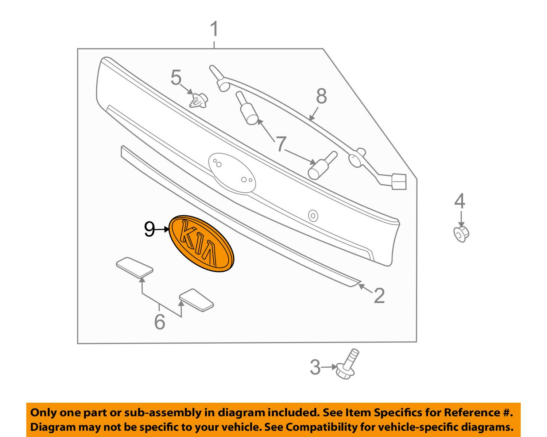 Kia Genuine 86353-1F010 Logo Assembly