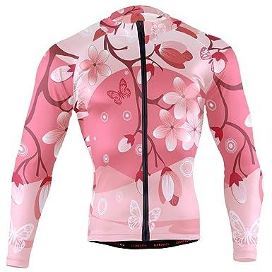 Amazon.com: Sakura Cherry Blossom - Camiseta de ciclismo ...