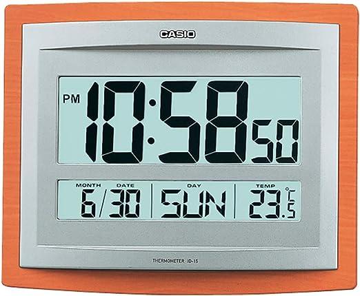 Casio Reloj DE Pared Digital Alarma, Temperatura Y Calendario ID ...
