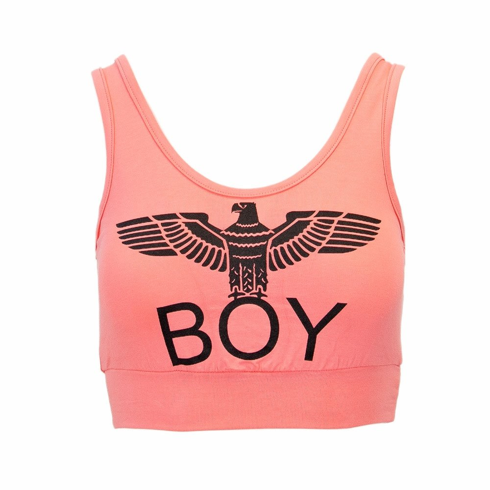 Boy London Donna Top Corto BIELASTICO con Stampa BL1017