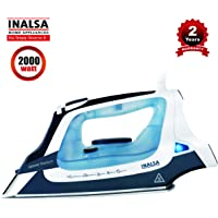 INALSA Steam Iron Geyser Titanium-2000W with 22g/min Continuous Steam, 0.8g/Shot Steam Burst,Vertical Steam & Spray Function,330ml Water-Tank,(Assorted Colour)