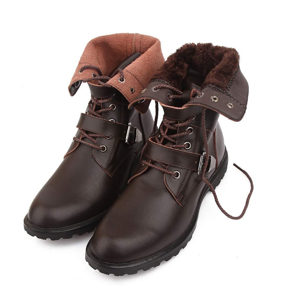 QIKAI Militärstiefel Für Männer Winter Cowboystiefel Winter Männer England Plus Warme Baumwollschuhe Aus Samt Hohe Stiefel Martin Stiefel 1a9a36