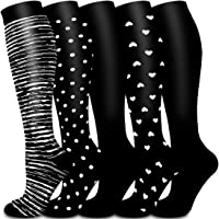 Copper Compression Socks Women & Men Circulation - Best for Running, Nursing, Hiking, Recovery, Flight & Travel Socks