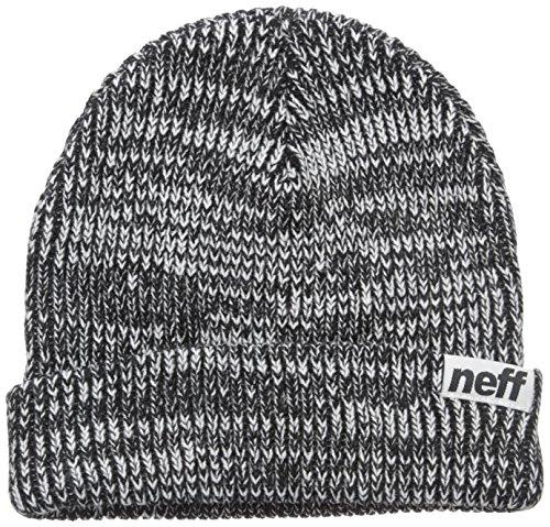 Neff Mens '13 Slashy Beanie Hat, Black/White, One Size