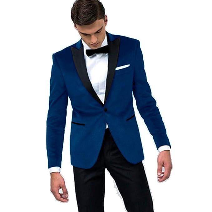 Amazon.com: Setwell - Traje de boda para hombre, 2 piezas ...