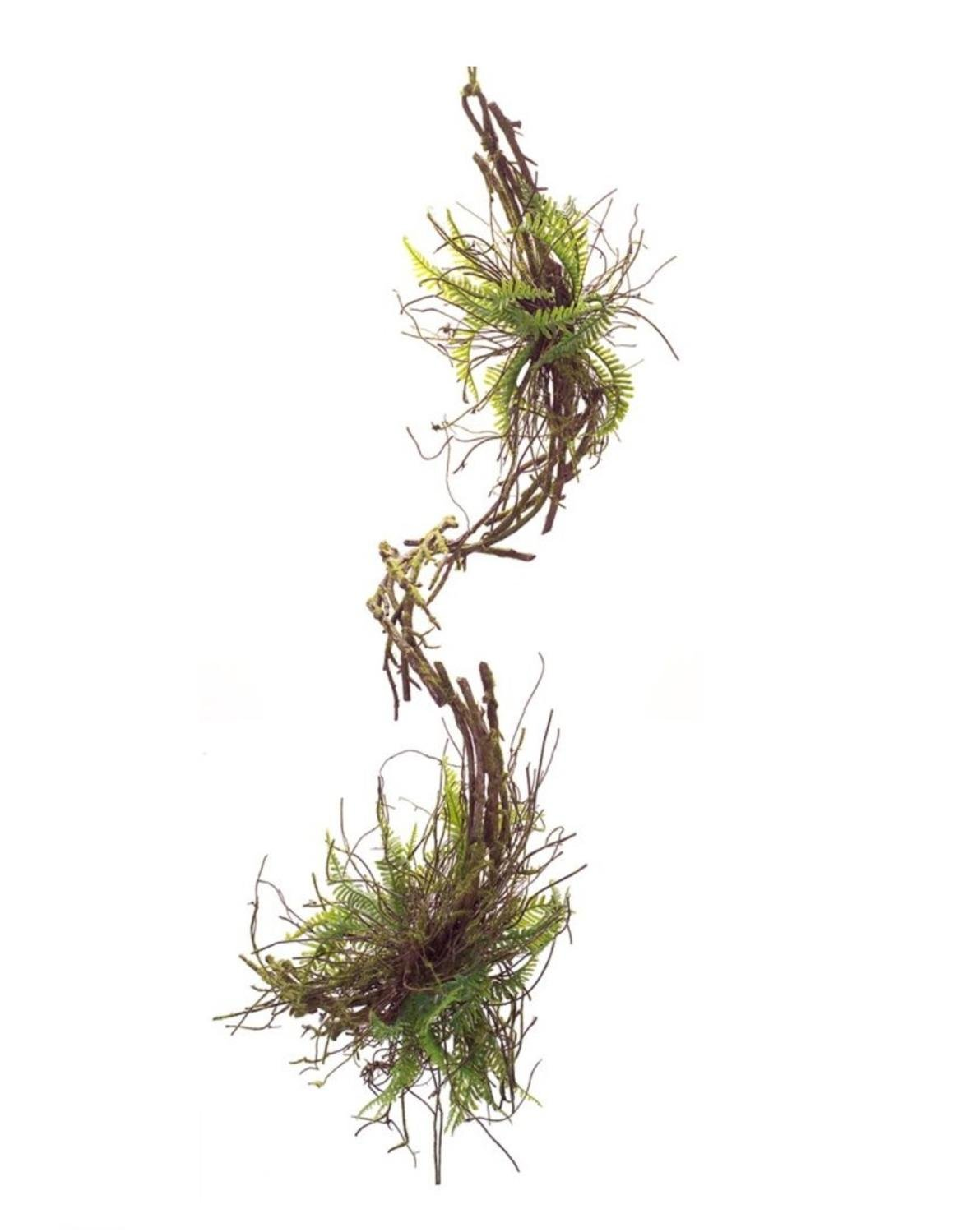 36'' Artificial Mixed Fern Hanging Spring Garland Pack of 4- Unlit