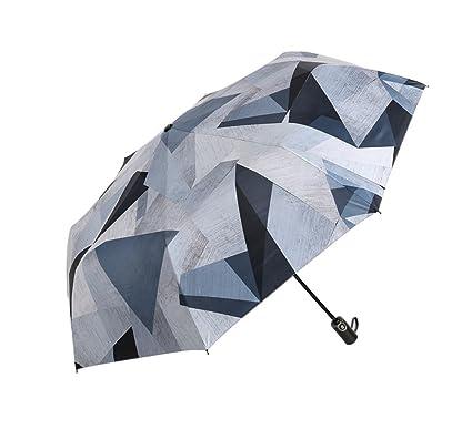 Paraguas Plegable Ligero Compacto Totalmente Automático Paraguas de Viaje Plegable Doble Persona Paraguas y Paraguas Plegables