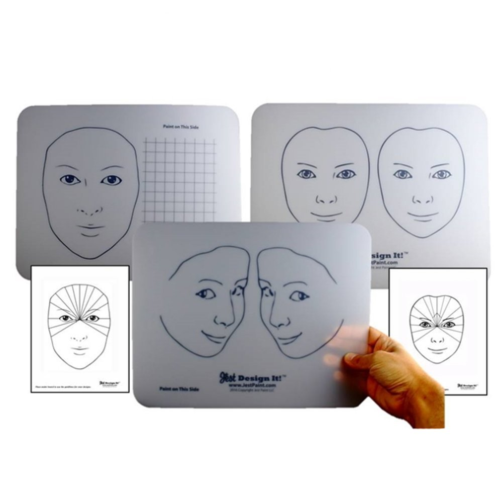 Design It Face Painting Practice Board Kit (3 Boards) Jest Paint