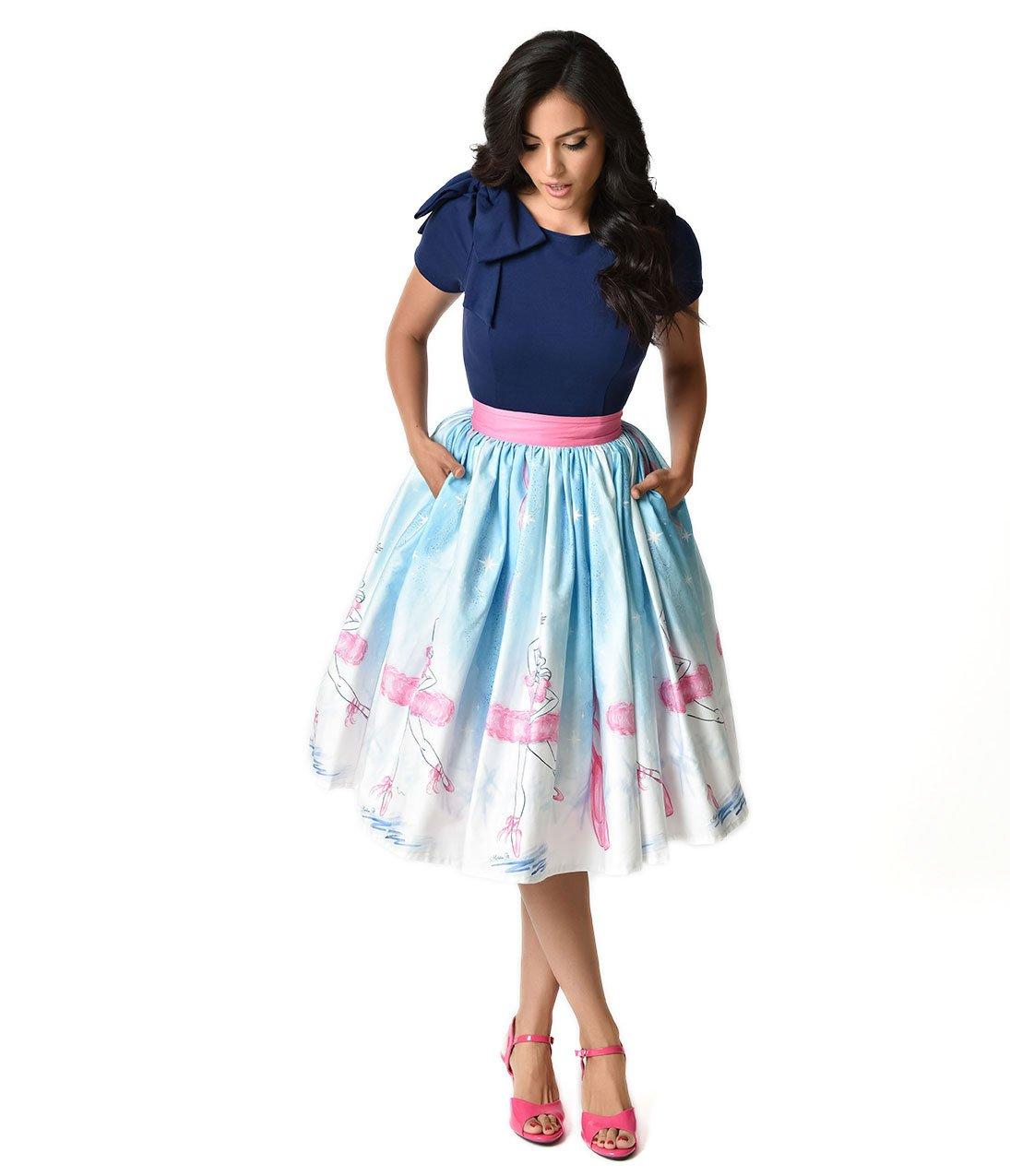 Unique Vintage Micheline Pitt 1950s Style Vintage Ballerina Skirt