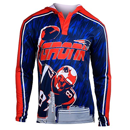 - NFL Football 2015 Polyester Player Hoody Tee - Pick Team (New England Patriots R Gronkowski #87, Small)