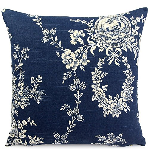 Waverly Square Print (Chloe & Olive French Country Toile Throw Toss Pillow - 18