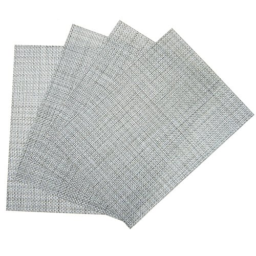 Benson Mills Longport Woven Vinyl Placemat (Set of 4), Ice ()