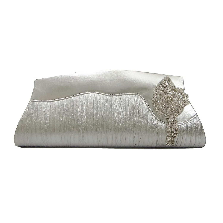 Indian Silver Clutch Women Prom party Wallet Evening Medium Beaded Purse Handbag