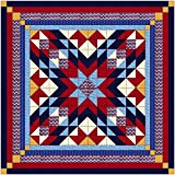Easy Quilt Kit Patriotic Starburst/Queen/Expedited Shipping