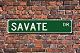 Aersing Savate Sign Fan Participant Gift French Kickboxing Martial Art Yard Fence Driveway Street Sign Indoor Outdoor Decorative
